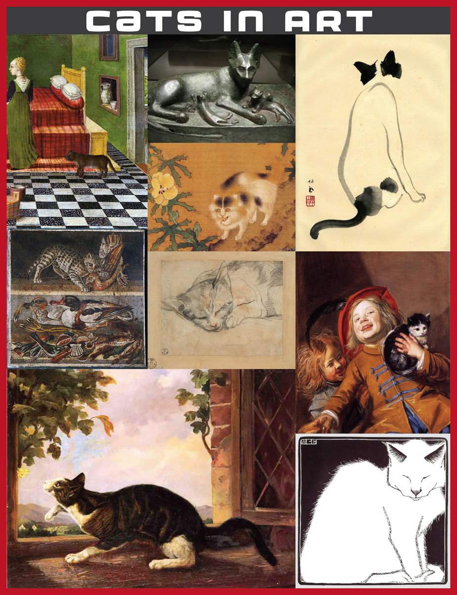 Cats in Art Collage