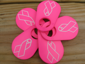 Ring of Pink Ribbon Cattle Tags