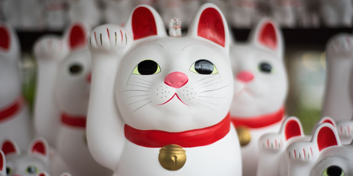 Japanese Cat Figurines
