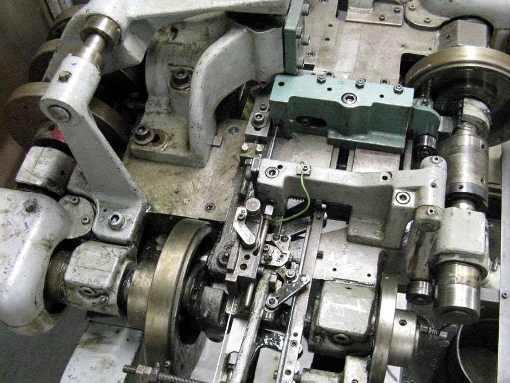 Detail of fourslide metalworking machine