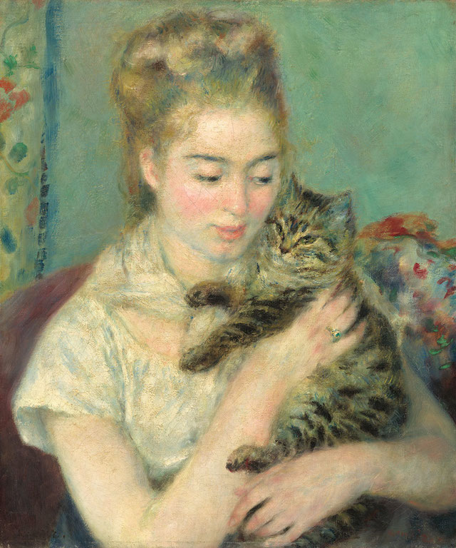 Pierre-Auguste Renoir: Girl and Cat