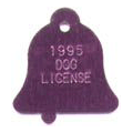 Bell shaped pet ID tag