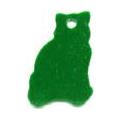 Cat shaped pet ID tag