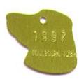 Dog head shaped pet ID tag