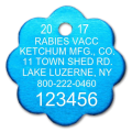 Ketchum 2017 Rabies Tag (rosette shape)