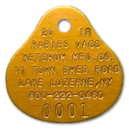 Over 100 Rabies Dog Tags Green Bell Shaped New Old Tags Vet |Dog With Rabies Tag