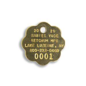 Brass 2021 rabies tag